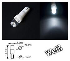 10Stück Tachobeleuchtung T5 W1.2W LED Weiß 12V DC  Instrumentenbeleuchtung Tacho