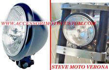 FARO MOTO ANTERIORE NERO HARLEY CUSTOM CAFE RACER SCRAMBLER FANALE+LAMPADINA H4