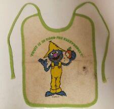 Vintage Sesame Street Grover Baby Bib
