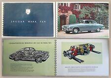 Werbeprospekt Broschüre Jaguar Mark Ten Automobile Oldtimer um 1965 xz
