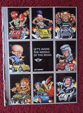 2003 Print Ad Mini Cooper Automobile Car ~ Weird Wheels Style Art Sticker Cards