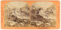 Suisse Hotel Da Grindelwald Foto Stereo PL56L1n Vintage Albumina c1868