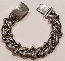 925 Sterling Silver Sculls Bracelet 88 grams
