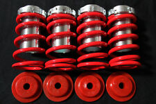 90-97 HONDA ACCORD CB CD RACING COILOVER SLEEVE SPRING KIT RED DX LX EX SE