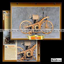 #054.08 Fiche Moto DAIMLER EINSPUR 1885-1886 Classic Bike Motorcycle Card