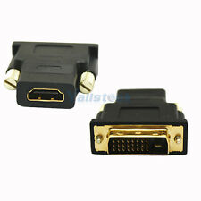 DVI-D 24+1 pin Male to HDMI 19 pin Male M/M Adapter Connector Converter for HD