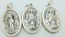 Lot Of 3 St Bridget & Saint Patrick Medal 2 Side Pendant Irish Patron Ireland