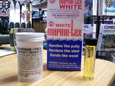 White Marine-Tex Jr. Repair Kit, structural epoxy, putty