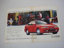 advertising Pubblicità 1993 HYUNDAI SCOUPE