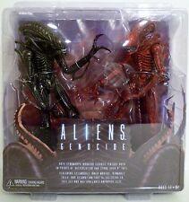 "ALIENS GENOCIDE (RED & BLACK XENOMORPHS) Aliens 7"" inch Figures 2-pk Neca 2013"