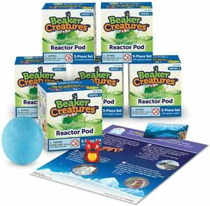 6 x Learning Resources Beaker Creatures Reactor Pod, series 1, Party Bag Fillers