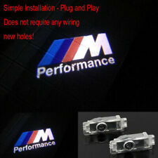 2x Door Ghost Shadow M Logo Projector LED Lights For BMW 3 5 6 7 Series X3 X5/X6