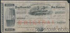 1854 Page, Bacon & Company San Francisco Bill Of Exchange