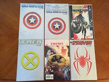 Lot of 6 Ultimates #1 Comic Books Spider-Man, X-Men & Captain America Nm+