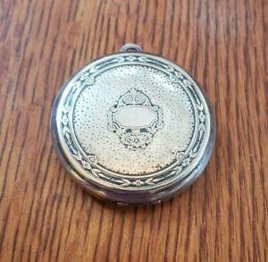Antique Art Deco Compact Case Makeup Powder Mirror Vintage Patent  Applied For