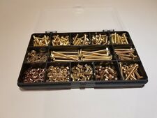 BRASS BOLTS AND NUTS SCREWS and WASHERS M4 Assorted Box 280 pcs