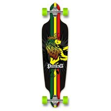 Yocaher Complete Rasta Drop Through Longboard