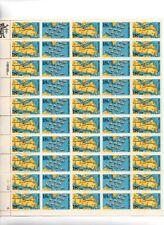 U.S. SHEET OF 50 SCOTT#1938a 1981 18ct YORKTOWN/VIRGINIA CAPES MNH P#212122-5