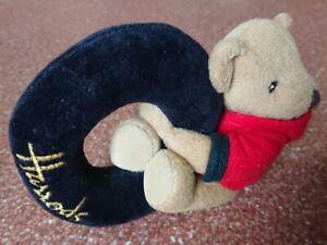 Harrods Bear in Red Coat Baby Rattle