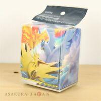 Pokemon Center Original Card Flip deck case Articuno Zapdos Moltres TAG TEAM GX