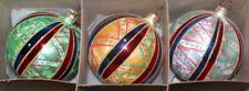Christopher Radko Fantasia Glass Christmas Ornaments ~French Country~ 3 Balls