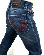 TRUE RELIGION MANCHESTER UNITED MENS RICKY RELAXED STRAIGHT JEANS 102265 36W 32L