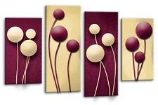 Floreale art. a muro Astratta foto stampa Floreale Prugna Crema pannello multi