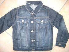 (C521) Armani Girls used look Jeans Jacke mit Logo Druck auf dem Rücken gr.110