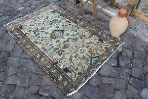 """Vintage Handmade Turkish Oushak Area Rug 59""""x38"""""""