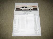 """Mercedes clase e t-modelo s210 lista de precios Price List """"de 29.01.2001"""