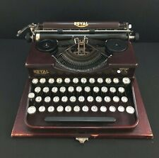 Vintage 1927 Royal Typewriter Burgundy Crackle Model P Portable P60200 + Case