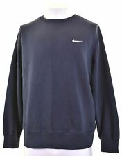 NIKE Mens Sweatshirt Jumper XL Navy Blue Cotton  ES02