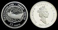 1992 Canada 125th Newfoundland 25 Cents Silver Proof Quarter!!