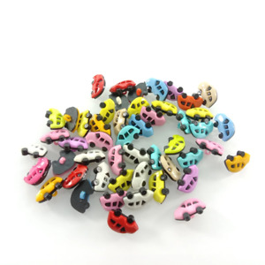 50x Shank Car Plastic Buttons Children's Garment Sewing Accessories DIY Scrapboo