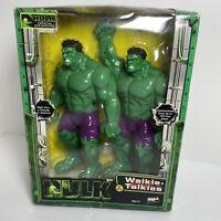Incredible Hulk Walkie Talkies MGA Entertainment Sealed Official Movie Merchant.
