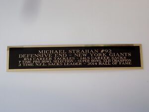Michael Strahan Giants Nameplate For A Signed Football Jersey Case 1.5 X 8