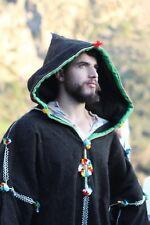 Long wool coat Djellaba men handmade winter coat, natural fabric, Festival cloth