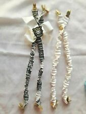 Black & White MARINER Pair of  Suspenders With Anchors