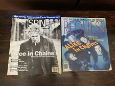 Alice in Chains Spin & Request magazines