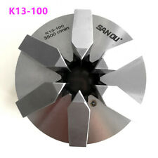 "6 Jaw 4"" Lathe Chuck 100mm Self-Centering M8 Screw Hardened Steel CNC Drilling"