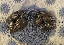 Clips Silver Washed Beautiful Vintage Pair Of Strawberry Dress