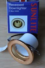 Sunlite R80 red fija Downlighter Latón para E27 Reflector Bombilla 100 W máximo