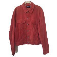 Vintage Polo Ralph Lauren Trucker Denim Jean Jacket  M Corduroy Collar MINT USA