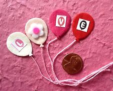 Balloons balloon Red Handmade Mulberry Paper Valentine hearts cards scrapbooking