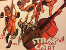 The Stray Cats, Full Page Vintage Pinup