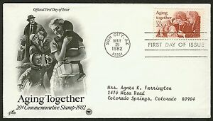 #2011 20c Aging Together, Art Craft-PCS Add. FDC **ANY 4=FREE SHIPPING**