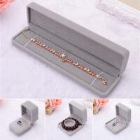 EE_ EG_ Faux Velvet Gift Jewellery Ring Necklace Bracelet Display Box Case Conve