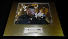 Christian Bale Signed Framed 16x20 Photo Display AW Terminator Salvation