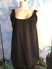 JESSICA LONDON 14/16 NEW BLACK SCOOP NECK COTTON BLEND SLEEVELESS TUNIC TANK TOP