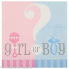 Gender Reveal Baby Shower Boy Girl Party Supplies Tableware Decoration 20 Napkins 33cm